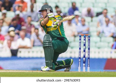 LONDON, ENGLAND - June 19 2013: South Africa's AB de Villiers (c & wk) batting during the ICC Champions Trophy semi final match between England and South Africa at The Oval Cricket Ground