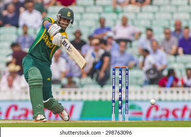 LONDON, ENGLAND - June 19 2013: South Africa's Robin Peterson batting during the ICC Champions Trophy semi final match between England and South Africa at The Oval Cricket Ground