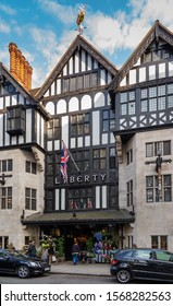 LONDON, ENGLAND, - JUNE 24, 2013: The famous Liberty Department Store in London.