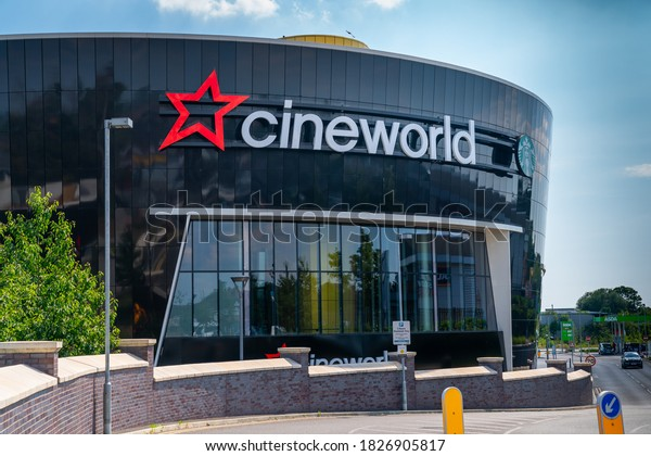 LONDON, ENGLAND - JUNE 26, 2020: Cineworld Cinema in South Ruislip, London, England closed during the COVID-19 pandemic - 047