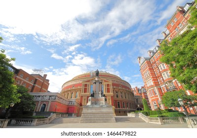 LONDON ENGLAND - JUNE 3, 2019: Royal Albert hall historical architecture London UK