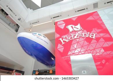 LONDON ENGLAND - JUNE 4, 2019: Kidzania amusement park at Westfield shopping mall London UK