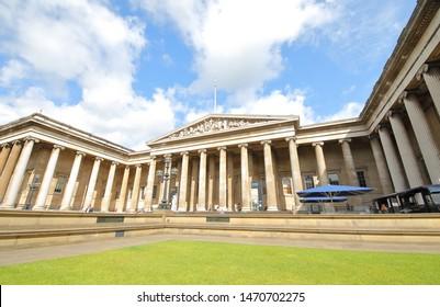 LONDON ENGLAND - JUNE 5, 2019: Unidentified people visit British museum London UK