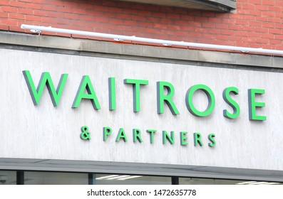 LONDON ENGLAND - JUNE 5, 2019: Waitrose supermarket UK