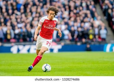 London, England - March 02 2019: Mattéo Guendouzi of Arsenal during the Premier League match between Tottenham Hotspur and Arsenal at Wembley Stadium