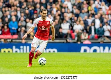 London, England - March 02 2019: Henrikh Mkhitaryan of Arsenal during the Premier League match between Tottenham Hotspur and Arsenal at Wembley Stadium