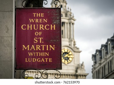 London, England - March 05, 2015: St Martin within Ludgate Church situated on Ludgate Hill, An Anglican church built in 1684.