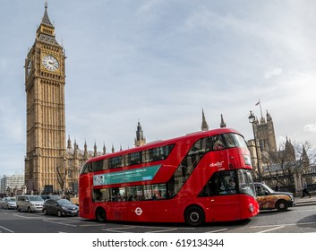 London,  England - March 06,  2017, Big Ben and the house of Parliament, London