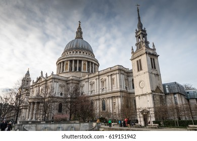 London,  England - March 07,  2017, St. Paul's Cathedral, London