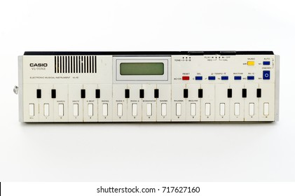 London, England - March 07, 2017: Casio VL-10, The Smallest Synthesizer and Calculator combined, First released in June 1979.