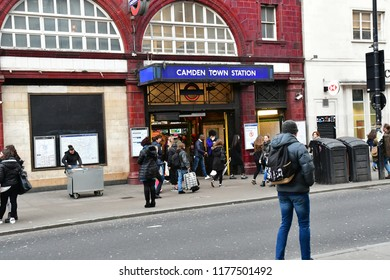 London, England - march 11 2018 : the picturesque Camden town station