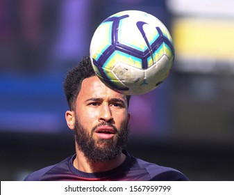 LONDON, ENGLAND - MARCH 9, 2019: Andros Townsend of Palace pictured ahead of the 2018/19 Premier League game between Crystal Palace FC and Brighton & Hove Albin FC at Selhurst Park.