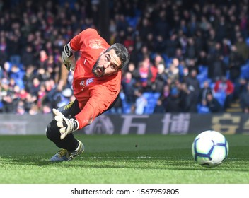 LONDON, ENGLAND - MARCH 9, 2019: Julian Speroni of Palace pictured ahead of the 2018/19 Premier League game between Crystal Palace FC and Brighton & Hove Albin FC at Selhurst Park.