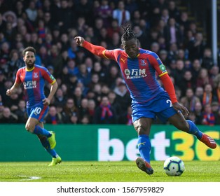 LONDON, ENGLAND - MARCH 9, 2019: Michy Batshuayi-Atunga of Palace pictured during the 2018/19 Premier League game between Crystal Palace FC and Brighton & Hove Albin FC at Selhurst Park.