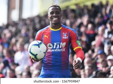LONDON, ENGLAND - MARCH 9, 2019: Wilfried Zaha of Palace pictured during the 2018/19 Premier League game between Crystal Palace FC and Brighton & Hove Albion at Selhurst Park.