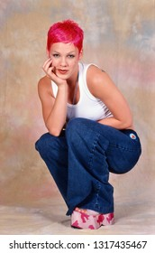 LONDON, ENGLAND - MAY 01, 2000: Singer Pink during a photoshoot in London. Original photo is a slide.
