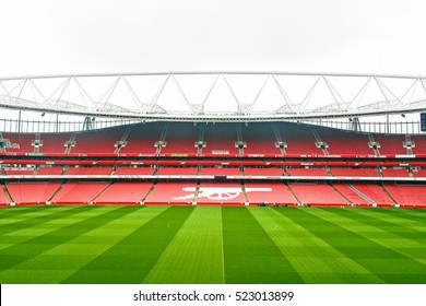 LONDON, ENGLAND - MAY 04, 2012 : Scenery of Emirate stadium, the home of Arsenal football club in London.The third-largest football stadium in England after Wembleyand Old Trafford.