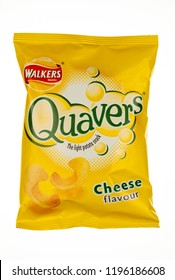 London, England - May 05, 2014: Packet of Quavers cheese flavour crisps, Made by Walkers and first launched 1968