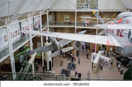 London, England - May 05, 2014: Imperial War Museum, Opened in Lambeth Road, London around 1936
