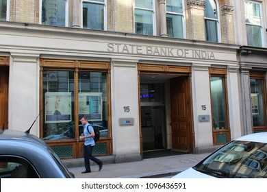 London, England, May 22nd 2018: State Bank of India in the City of London