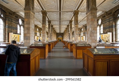 LONDON, ENGLAND - MAY 30: Mineral Gallery at The Natural History Museum on May 30, 2015 in London