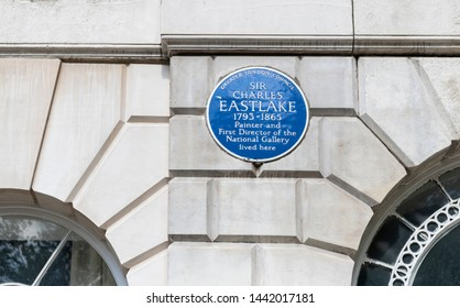 London, England - May 8 2018; Sir Charles Eastlake Blue Plaque