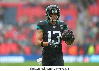 LONDON, ENGLAND - NOVEMBER 03 2019: Jacksonville Jaguars wide receiver, Michael Walker (13) during the NFL game between Houston Texans and Jacksonville Jaguars at Wembley Stadium