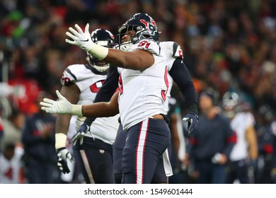 LONDON, ENGLAND - NOVEMBER 03 2019:  during the NFL game between Houston Texans and Jacksonville Jaguars at Wembley Stadium