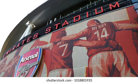 LONDON, ENGLAND, NOVEMBER 1ST 2015: Close up of Arsenal Stadium.