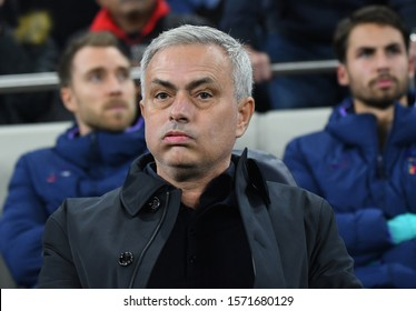 LONDON, ENGLAND - NOVEMBER 26, 2019: Tottenham manager Jose Mourinho pictured during the 2019/20 UEFA Champions League Group B game between Tottenham Hotspur FC and Olympiacos FC.