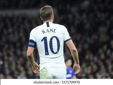 LONDON, ENGLAND - NOVEMBER 26, 2019: Harry Kane of Tottenham pictured during the 2019/20 UEFA Champions League Group B game between Tottenham Hotspur FC and Olympiacos FC.