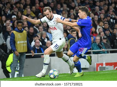 LONDON, ENGLAND - NOVEMBER 26, 2019: Harry Kane of Tottenham pictured during the 2019/20 UEFA Champions League Group B game between Tottenham Hotspur FC (England) and Olympiacos FC (Greece).