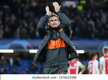 LONDON, ENGLAND - NOVEMBER 5, 2019: Chelsea manager Frank Lampard pictured after the 2019/20 UEFA Champions League Group H game between Chelsea FC and AFC Ajax at Stamford Bridge.