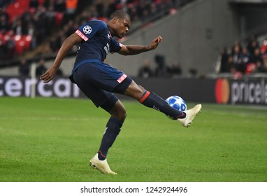 LONDON, ENGLAND - NOVEMBER 6, 2018: Denzel Dumfries of PSV pictured during the 2018/19 UEFA Champions League Group B game between Tottenham Hotspur and PSV Eindhoven at Wembley Stadium.