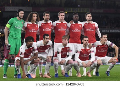 LONDON, ENGLAND - NOVEMBER 8, 2018: pictured during the 2018/19 UEFA Europa League Group E game between Arsenal FC (England) and Sporting CP (Portugal) at Emirates Stadium.