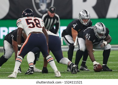LONDON, ENGLAND - OCTOBER 06 2019: Center Rodney Hudson of The Oakland Raiders  during the NFL game between Chicago Bears and Oakland Raiders at Tottenham Stadium in London, United Kingdom.