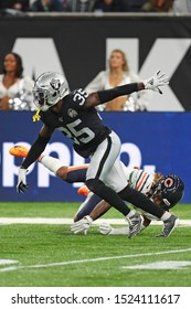 LONDON, ENGLAND - OCTOBER 06 2019: Cornerback Hamp Cheevers of The Oakland Raiders  during the NFL game between Chicago Bears and Oakland Raiders at Tottenham Stadium in London, United Kingdom.