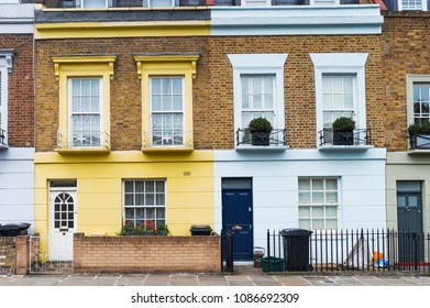 LONDON, ENGLAND - OCTOBER 14, 2017: English typical houses in Camden town