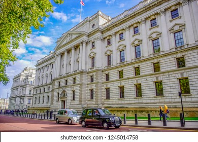 LONDON, ENGLAND - OCTOBER 14: The Churchill War Rooms museum, a historic underground complex that housed a British government command centre during Second World War, London, England