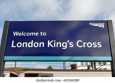 LONDON, ENGLAND - OCTOBER 15 2013: Welcome to London King's cross