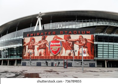 LONDON, ENGLAND - OCTOBER 15, 2013: Emirates stadium in Arsenal, London