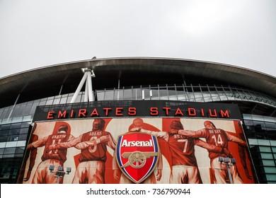 LONDON, ENGLAND - OCTOBER 15, 2013: Emirates stadium in Arsenal, London