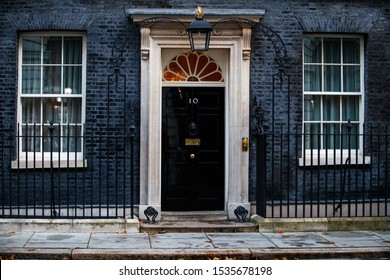 London, England October 2019. View on the famous 10 Downing street