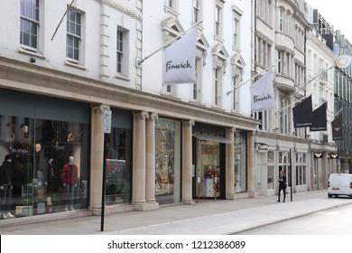 London, England, October 23rd 2018: Fenwick Department store in New Bond Street, London