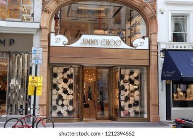 4ce716ceec6 London, England, October 23rd 2018: Jimmy Choo store in New Bond Street,