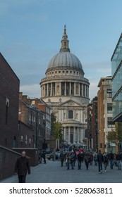 LONDON, ENGLAND- OCTOBER 25, 2016: The Dome of St Paul's Cathedral.