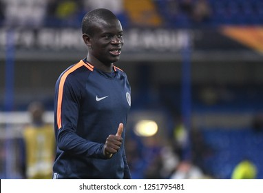 LONDON, ENGLAND - OCTOBER 25, 2018: N'Golo Kante of Chelsea pictured prior to the 2018/19 UEFA Europa League Group L game between Chelsea FC (England) and BATE Borisov (Belarus) at Stamford Bridge.