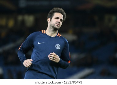 LONDON, ENGLAND - OCTOBER 25, 2018: Cesc Fabregas of Chelsea pictured prior to the 2018/19 UEFA Europa League Group L game between Chelsea FC (England) and BATE Borisov (Belarus) at Stamford Bridge.