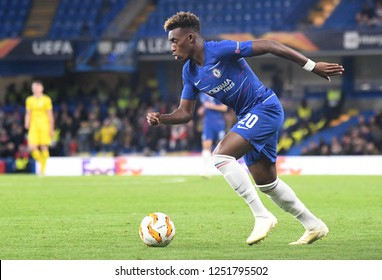 LONDON, ENGLAND - OCTOBER 25, 2018: Callum Hudson-Odoi of Chelsea pictured during the 2018/19 UEFA Europa League Group L game between Chelsea FC and BATE Borisov at Stamford Bridge.