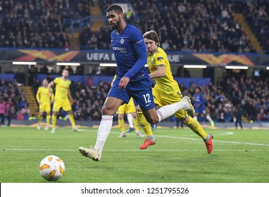 LONDON, ENGLAND - OCTOBER 25, 2018: Ruben Loftus-Cheek of Chelsea pictured during the 2018/19 UEFA Europa League Group L game between Chelsea FC and BATE Borisov (Belarus) at Stamford Bridge.